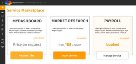MyDashboard Services Marketplace